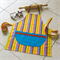 Kids Apron Candy blue -boys/girls lined kitchen/craft/play apron - candy stripes