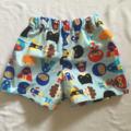 "Handmade baby boy shorts size 6m to 12m ""Superhero"""
