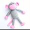 'Mila' the Crochet Monkey - grey & pink - *READY TO POST*