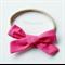 Dark Pink Bow - Nylon Headband