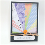 Blank Card - Starburst, Sending You a Smile