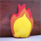 Campfire Felt Toy, Flame and Logs
