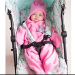 Star Fleece Baby Blanket - Pink