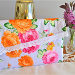 Lilac clutch, Floral Wallet, gift for Mum