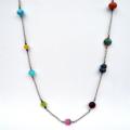 Rainbow Gemstone Long Necklace