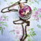 Botanical Necklace, Glass Orb Necklace