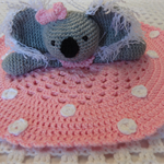 Koala Lovey, Crochet Lovey, Baby Girl Gift, Baby Shower Gift, Baby Gift