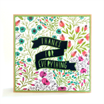 Thank You Blank Greeting Card