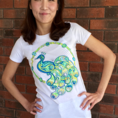SerendipiTee Colour In T-Shirt - Paisley Peacock