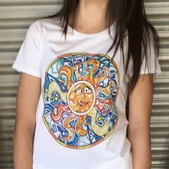 SerendipiTee Colour In T-Shirt - Sun Mandela