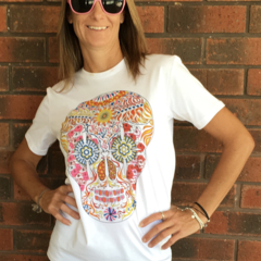 SerendipiTee Colour In T-Shirt - Skull Candy