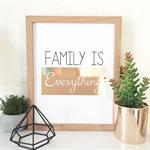 Copper Foil Print - 8 X 10 - Family is Everything Copper Foil - FOIL009