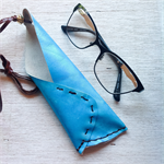 Leather eye glasses pouch