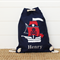 Personalised Kids Backpack - Pirate Navy