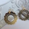 Gold Daisy Flower Filligree Earrings