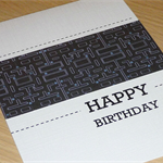 Male Happy Birthday card - computer game