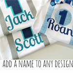 Add a Custom Name to any Lil Birdie Design in Fun Glitter Lettering