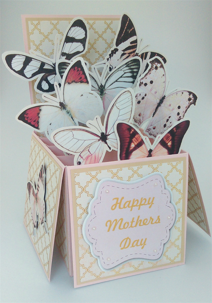 mothers day card in a box pop up card 3d card love card