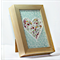 Mosaic Heart in timber frame inc. postage