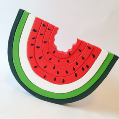 Wooden hand painted stacking Watermelon Rainbow. (7 Piece)