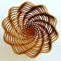 Rosette bowl in cherry or jarrah wood