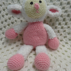 Lamb Softie, Baby Girl Gift, Baby Gift, Baby Shower Gift, Girl Toy