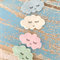 Sleepy cloud hair clips with a silver outline, girl, accessory