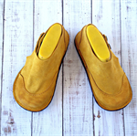 Yellow Suede Toddler boots - Rubber Soled Leather Toddler Boots