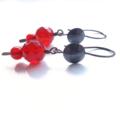 Carnelian Copper hook  rust colour dangle handmade earrings