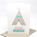 Birthday Card Girl - Girl's Teepee - HBC189