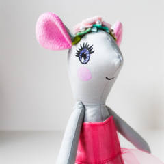 Soft toy mouse pink doll