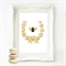 Bee Print, French  Provincial decor, Acorn wreath, A4 print