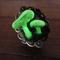 3D Glow in the dark Fairy mushroom fungi forest jewellery adjustable ring.