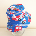 Boys summer hat in bright fire engine fabric