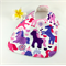 Baby Infant Dribble Feeder Bib Unicorn Cotton Fabric, Bamboo Toweling Adjustable