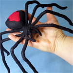 Giant Redback Spider Soft Sculpture
