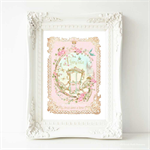 Once upon a time print, Pink nursery decor, baby girl nursery, A4 print