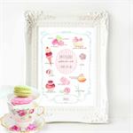 Kitchen Print, French pastry print, Watercolour illustration, A4 print
