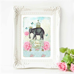 Elephant Print, Nursery Art,