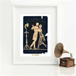 Art Deco print of a dancing couple,1920s, flapper, silhouette, romantic A4 print