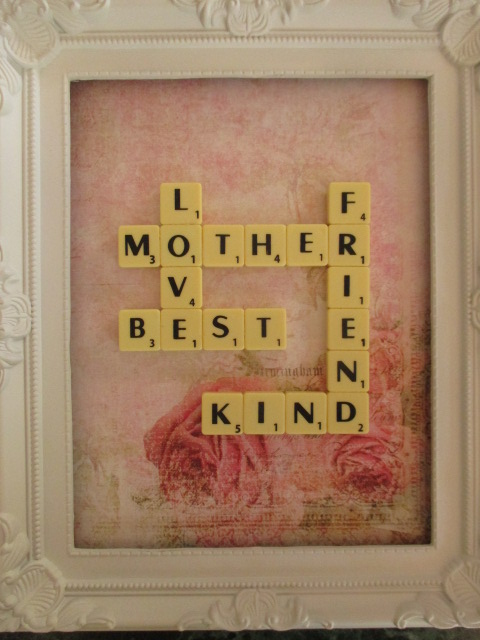 Mothers Day Personalised Birthday Present Scrabble Letter