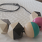 Hand painted Geometric Colour Pop - Pink, Turquoise, Grey and Black