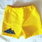 Yellow and navy cotton drill toddler boy shorts . Size 1 Baby boy shorts