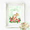 Rabbit nursery print, nursery decor, woodland tea party, woodland animals, A4