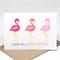 Birthday Card Female - Pink Flamingos - HBF152