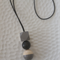 Hand Painted Geometric Drop - Grey and Black