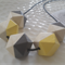 Hand painted Geometric Colour Pop - Yellow and Grey