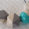 Hand painted Geometric Colour Pop -  Turquoise and Grey