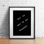 Trust the magic of new beginnings Handwritten Quote Print