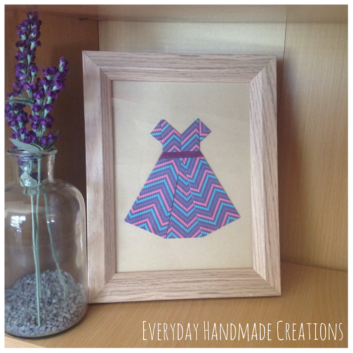 Framed paper dress home decor everyday handmade for Handmade paper creations